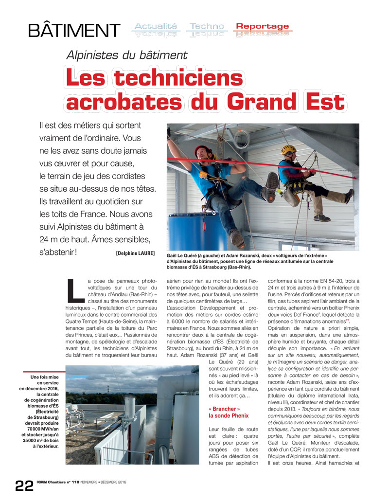 article presse forum chanter n°1