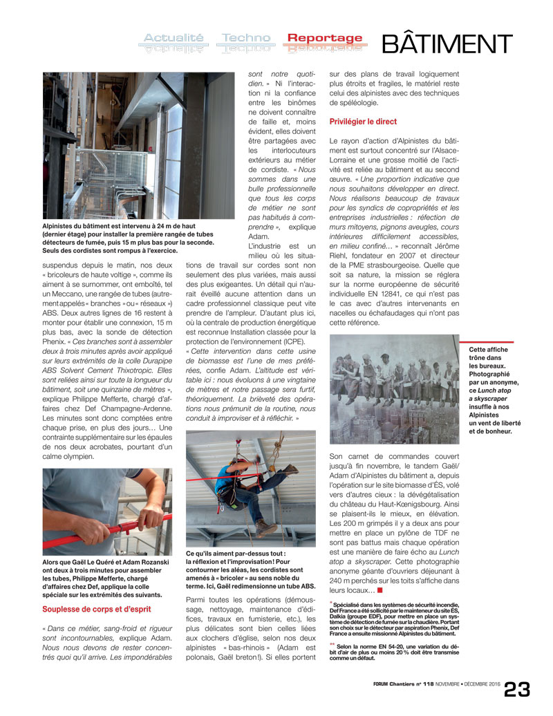 article presse forum chanter n°2